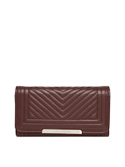 Lisa Haydon for Lino Perros Women Brown Quilted Wallet
