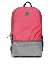 Gear Unisex Red & Grey Backpack