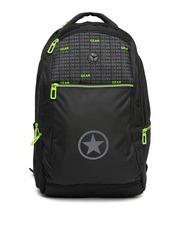 Gear Unisex Black Printed Laptop Backpack