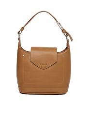 VIARI Brown Genuine Leather Handbag
