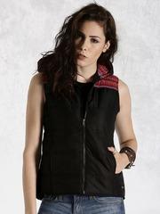 Roadster Black Padded Sleeveless Jacket