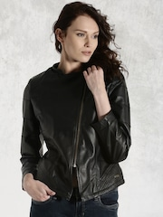 Roadster Black Biker Jacket