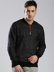 HRX by Hrithik Roshan Black Sweatshirt
