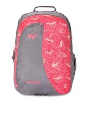 Wildcraft Unisex Pink & Grey Printed Backpack