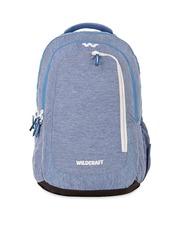Wildcraft Unisex Blue Melange Laptop Backpack