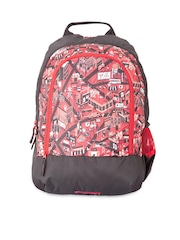 Wiki by Wildcraft Unisex Red & Black Printed Backpack