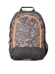 Wiki by Wildcraft Unisex Grey & Black Printed Backpack