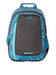 Wiki by Wildcraft Unisex Blue & Black Printed Backpack