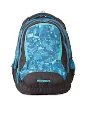 Wildcraft Unisex Blue & Black Printed Backpack