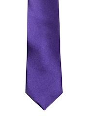 Louis Philippe Purple Silk Tie