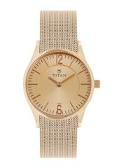 Titan Women Rose Gold-Toned Dial Watch 95035WM01J