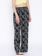 ONLY Black Floral Printed Palazzo Trousers