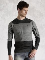 Roadster Grey Striped Sweater
