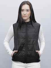 ether Black Sleeveless Uber Light Jacket