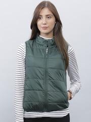 ether Olive Green Uber Light Sleeveless Jacket