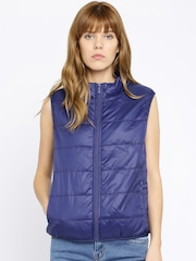 ether Blue Sleeveless Quilted Uber Light Jacket