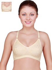 Floret Pack of 2 Nude-Coloured Full-Coverage T-shirt Bras