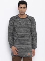 Roadster Men Black Sweater