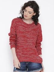 Roadster Women Red Sweater