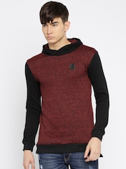 RDSTR Maroon & Black Hooded Sweatshirt