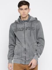 RDSTR Grey Washed Hooded Sweatshirt
