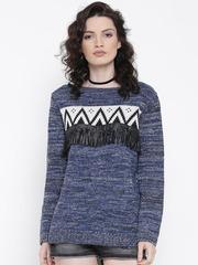 Roadster Women Blue Sweater