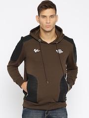 Roadster Brown & Black Hooded Sweatshirt