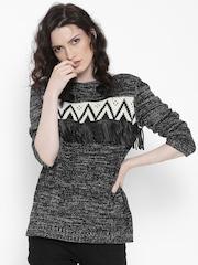 Roadster Women Black Sweater