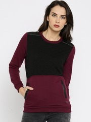 RDSTR Black & Maroon Sweatshirt