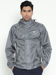 Wildcraft Grey Hooded Rain Jacket