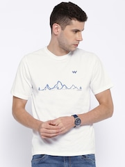 Wildcraft White Printed T-shirt