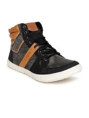 Core Men Black & Tan Brown Casual Shoes