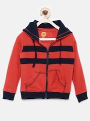 YK Boys Red Hooded Sweatshirt