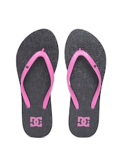 DC Women Pink & Black Textured Flip-Flops