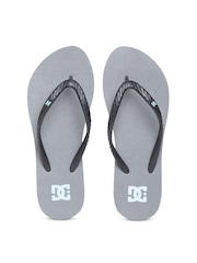 DC Women Black & Grey Textured Flip-Flops