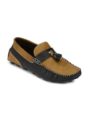Prolific Men Brown & Black Loafers