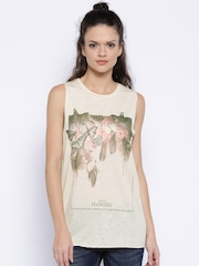 ONLY Cream-Coloured Printed Speckled Top
