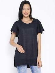 109F Navy Georgette Tunic