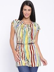 109F Multicoloured Printed Polyester Tunic