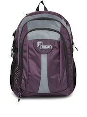 F Gear Unisex Purple & Grey Areena V2 Backpack