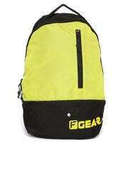 F Gear Unisex Black & Yellow Backpack