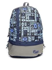F Gear Unisex Navy & Grey Printed Burner Backpack