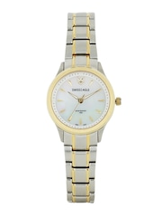 Swiss Eagle Women Pearly White Dial Watch SE-6047-33