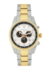 Swiss Eagle Men Silver-Toned Dial Chronograph Watch SE-9068-33