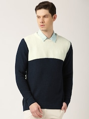 ETHER Navy & Off-White Sweater