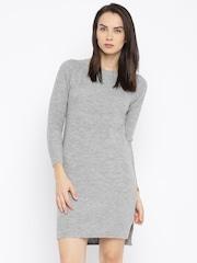 ether Women Grey Sweater Dress