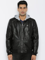 Roadster Black Hooded Jacket