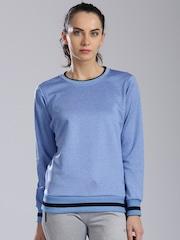 HRX by Hrithik Roshan Blue Melange Sweatshirt