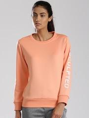 HRX by Hrithik Roshan Peach-Coloured Active Sweatshirt