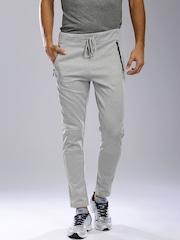 HRX by Hrithik Roshan Grey Slim Fit Track Pants